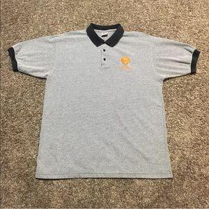 Cleveland Browns True Fan Polo Shirt Mens Textured